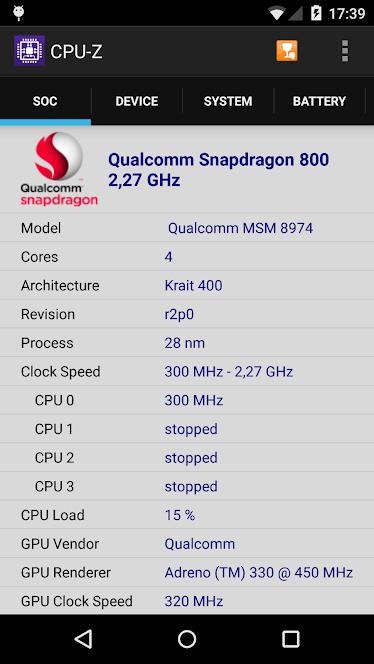 دانلود سی پی یو زد جدید 99 CPU-Z مشاهده اطلاعات گوشی